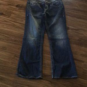 Vigross Chelsea slim boot cut jeans